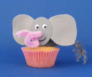 Olifant-cupcake