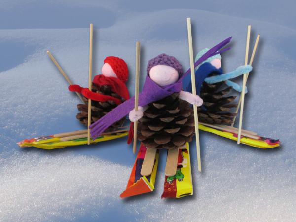 Skier-groep